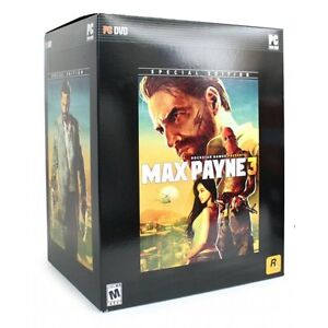 PC DVD MAX PAYNE 3 COLLECTOR'S SPECIAL EDITION NEW (GAME + FIGURE + KEYCHAIN)