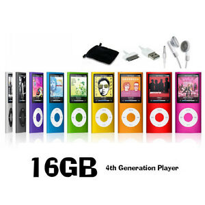16GB MP3 MP4 Slim Player LCD Screen 4th Generation Video Movie FM Radio Games