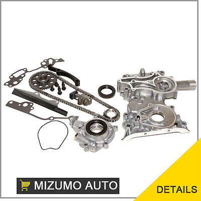 Fit 85-95 Toyota Pickup 4runner 22r Heavy Duty Oil Pump Timing Chain Cover Kit