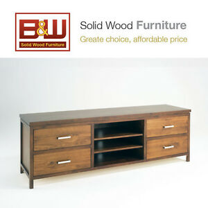 Solid Wood 1.8M Entertainment Unit, TV Unit