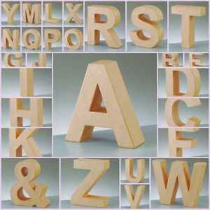 Lettere-Grandi-In-Cartone-3D-Forme-E-Simboli-17-5cm-A-Scelta