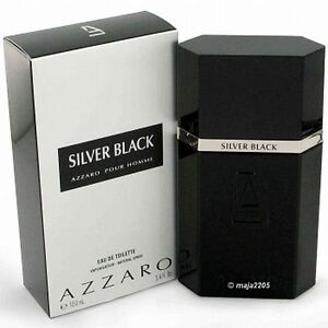 Silver Black Azzaro 100 ml EdT-Spray, Neu/Folie