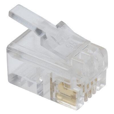 4P4C Handset RJ9 Plug Modular Connector Telephone 100pcs Bag Phone Jack Crimp