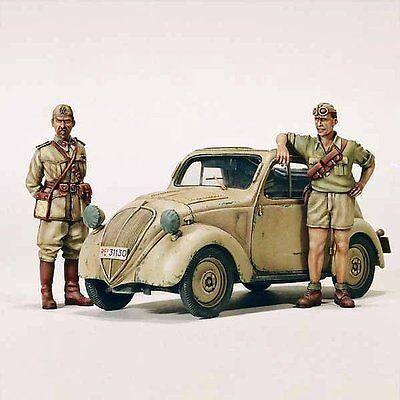 Model Victoria 1/35 Fiat Model 500 A topolino North Africa (w/2 Figures) 4073