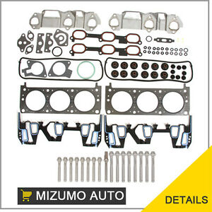 Head-Gasket-Set-Head-Bolts-Chevrolet-Oldsmobile-Pontiac-3-1-3-4-OHV-12V