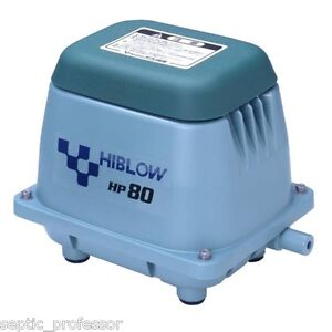 Hiblow hp 80 hp80 new septic air pump pond aerator diy ebay for Diy pond pump pre filter