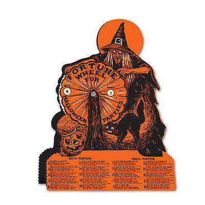 Vintage Beistle 1927 HALLOWEEN Retro WITCH FORTUNE WHEEL GAME Party Decoration