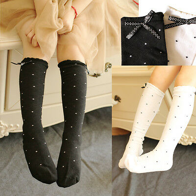 2 Colors Graceful High Socks with Ribbon