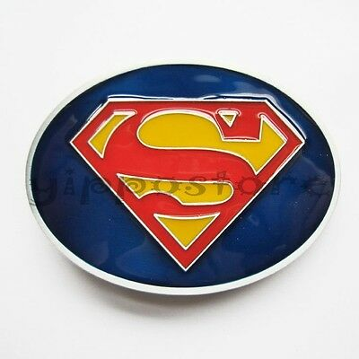 Superman Logo DC Comics Superhero Metal Belt Buckle
