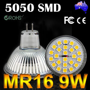 MR16-9W-5050-SMD-24-LED-Light-Warm-White-Bulb-Downlight-SpotLight-Globe-Lamp-12V