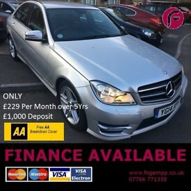 Mercedes Benz C220 AMG Sport AUTO DIESEL - Full Main Dealer History - 2 Owners CAT C Vehicle