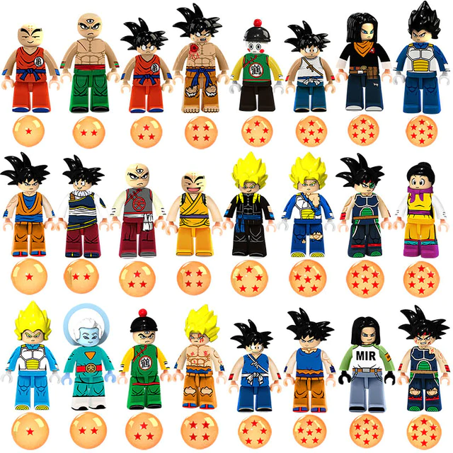Count:24 figures:24pcs Dragon Ball Z Action For Lego Figure Super Goku Building Block Toy Heroes