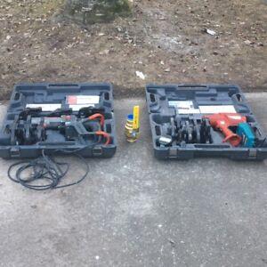 2 Ridgid 320-E and 1 Ridgid CT-400 Crimping Tools.