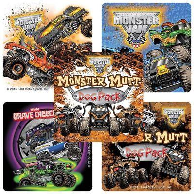 25 Monster Jam Trucks Trios Grave Digger Stickers Party Favors Mutt ](Grave Digger Monster Truck Party Supplies)