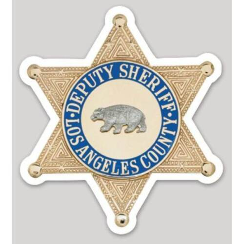 3 Inch Non-Reflective Los Angeles County Sheriff Sticker Decal