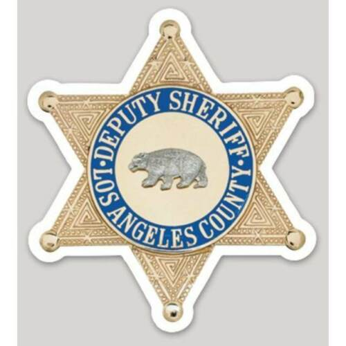 4 Inch Non-Reflective Los Angeles County Sheriff Sticker Decal