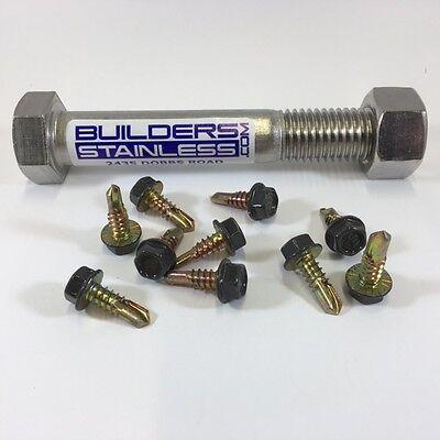 "Pan Head Sheet metal Screws 316 Stainless Steel Marine Grade #12X1/"" Qty 50"