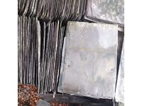 "Large quantity of reclaimed Welsh roofing slates. Appx 10"" X 14"" .Good condition"