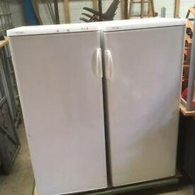 one fridge and one freezers