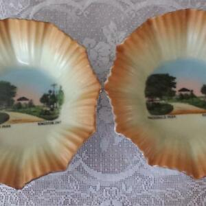 2 Vintage Dishes Of MacDonald Park In Kingston Ontario For Sale!