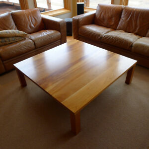 "solid cherry coffee table 48"" square"