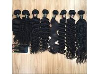 BRAZILIAN PERUVIAN MONGOLIAN CAMBODIAN VIRGIN HUMAN HAIR 9A GRADE 8 TO 34 INCHES ALL TEXTURE/COLOURS
