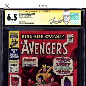 Avengers annual #1 1967 signed by Stan Lee NEW LABEL!
