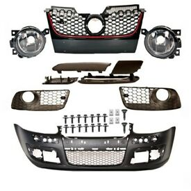 New OEM Front bumper and Optic Fog lights Golf V MK 5 2003 - 2009 1K convert to GTi or R32 Black