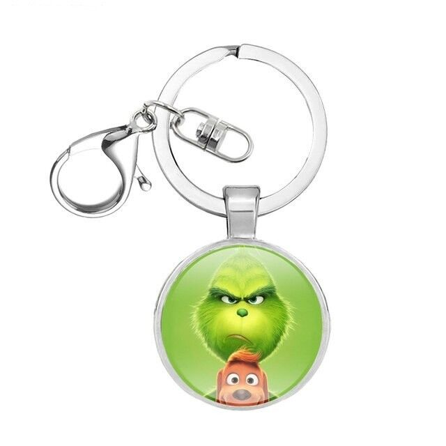 Movie The Grinch 2019 Figures Necklace Key Chain Grinch Stole Christmas Jewelry