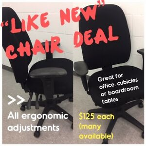 CHAIRS FOR USE AT DESK, CUBICLE or BOARDROOM TABLE, LIKE NEW