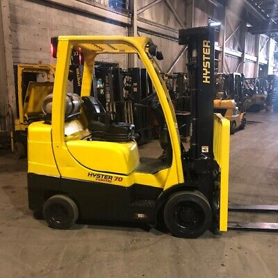 2013 Hyster S70ft 7000lbs Used Forklift Triple Mast Lp Gas Sideshift