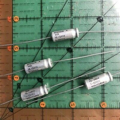 Sprague Axial Electrolytic Capacitor 100v 1uf 2uf 3uf 4uf 5uf Audio 105c 4pcs