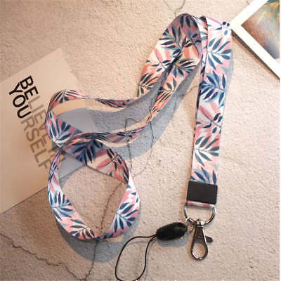 Small Fresh Leaves Neck Strap Lanyards for keys ID Card Gym Mobile Phone Straps - Bulk Lanyards