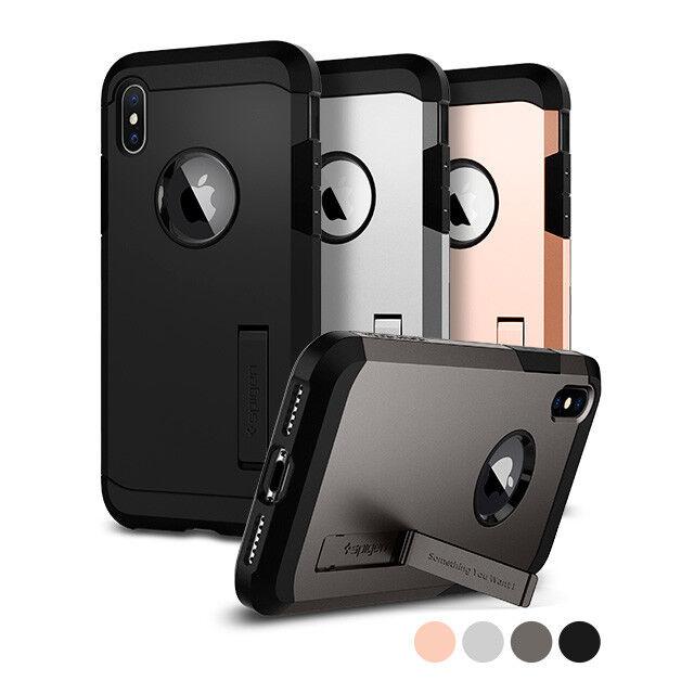 For Apple iPhone X 10 Spigen®  Rugged Slim Shockproof Case