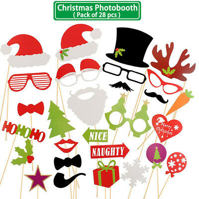 h Props Halloween Christmas Decorations Gift PhotoBooth  (Holiday Photo Booth Props)