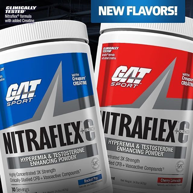 GAT Nitraflex + C  Pre Workout PUMP - 30 Servings TESTOSTERO