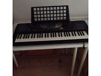 Yamaha PSR-270 MIDI Portable Keyboard with Yamaha Education Suite, 61 keys, stand, manual.