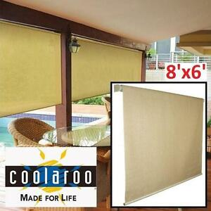 NEW COOLAROO ROLLER SHADE 8'x6' - 117978417 - SOUTHERN SUNSET INDOOR OUTDOOR SHADES BLIND BLINDS CURTAIN CURTAINS SUN...