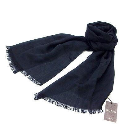 Auth GUCCI scarf GG pattern Y132