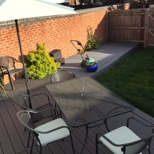 Patio Furniture Set (Table, 6 x Chairs inc cushions & Parasol) MUST GO THIS WEEKEND!!!!!