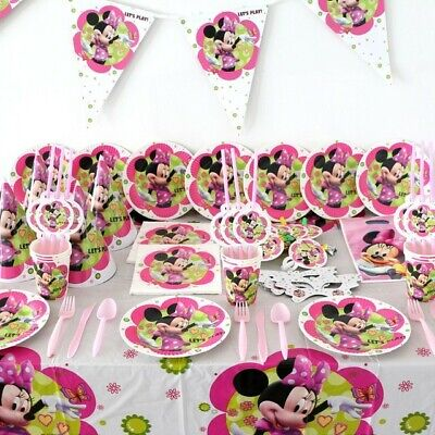 Disney Party Decorations (Minnie Mouse Disney Birthday Party Decorations Supplies)
