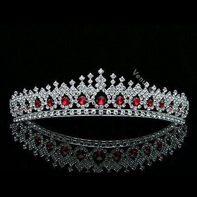Gorgeous Apple Red Rhinestone Crystal Bridal Wedding Prom Crown Tiara 7561](Ruby Tiara)