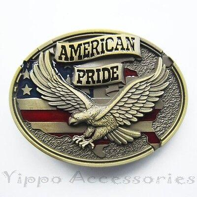 Bronze American Pride Eagle Western Metal Fashion Belt Buckle