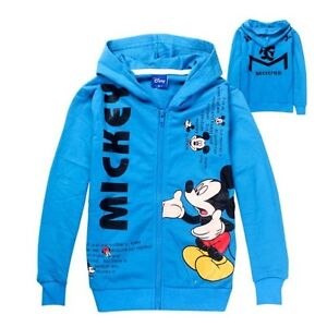Novely-Mickey-Mouse-Kids-Toddler-Boys-Girls-Hoodies-Zipper-Costume-140-7-8Years