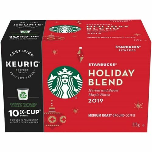 Starbucks Coffee Holiday Blend K-Cup Pods, 60 Count
