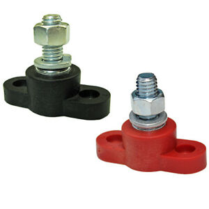 Positive-negative-set-battery-ring-insulated-junction-post-terminal-block-stud