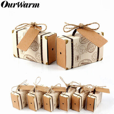100x Wedding Favor Mini Suitcase Candy Gift Box Sweet Bag Travel Party for Guest