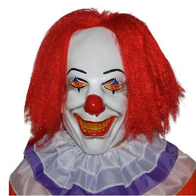 Klassisch Pennywise Clown Maske It Halloween Kostüm Steven König Perücke