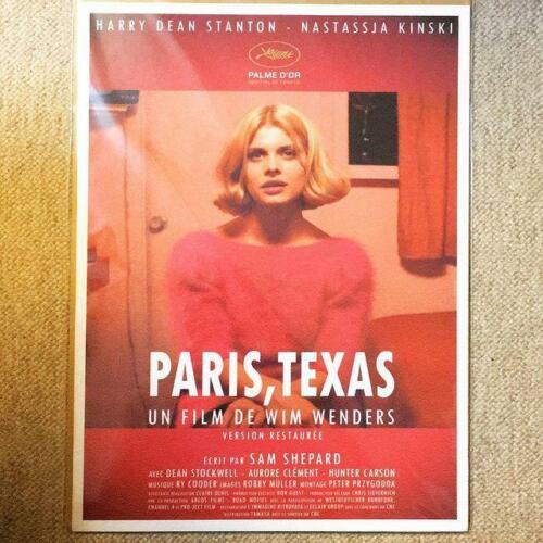 Paris, Texas 1985 Nastassja Kinski REISSUE LARGE FRENCH MOVIE POSTER