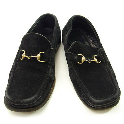Auth GUCCI Loafer Bit Metal used C505